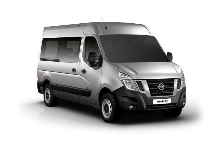 Nissan NV400 Minibus L2 35 M1 FWD 2.3 dCi FWD 145PS SE Combi Medium Roof Manual [Start Stop] [6Seat] back view